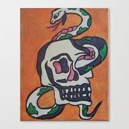 Snake skull head Canvas Print