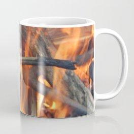 Fire fire burns twigs and wood Coffee Mug
