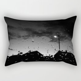 Morning After Rain (Black and White) Rectangular Pillow