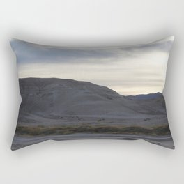 Sunset with Clouds Over Wild Yellow Foliage In Death Valley Spring 2016 Bloom Rectangular Pillow