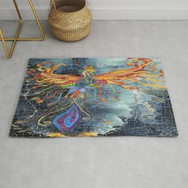 The Phoenix Rising From the Ashes Rug