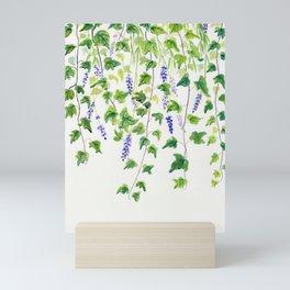 Ivy and Lavender Watercolor Mini Art Print