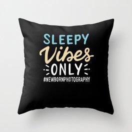 Sleepy Vibes Only Throw Pillow