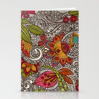 random Stationery Cards featuring Random Flowers by Valentina Harper