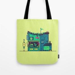 Cyberpunk Tea Shack Tote Bag