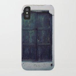 Santorini Door II iPhone Case