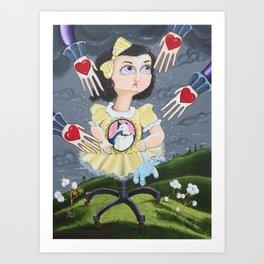 The Boogieman Stole Her Heart Art Print