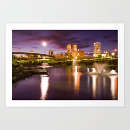 Tulsa Lights - Centennial Park View Art Print