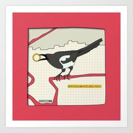 Eurasian Magpie Art Print