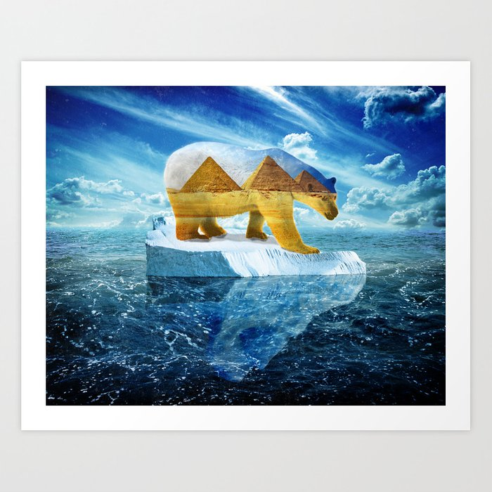 A Polar Bear Dreams of the Desert Art Print