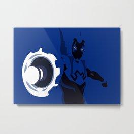 Blue Beetle Minimalism Metal Print