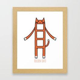 Golden Gato Framed Art Print