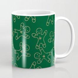 Sweet forest green gold foil christmas ginger bread man Coffee Mug