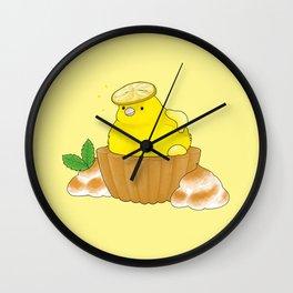 Lemon Canary Wall Clock