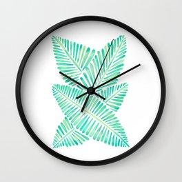 Tropical Banana Leaves – Mint Palette Wall Clock