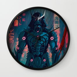 077 Samurai 2077 Wall Clock