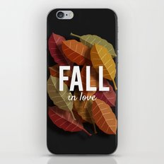 Fall in Love iPhone & iPod Skin