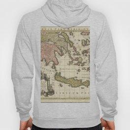Vintage Map Print - 1740 map of Ancient Greece by Matthaus Seutter Hoody