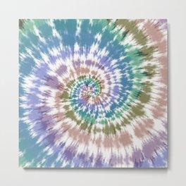pastel spiral tie dye Metal Print