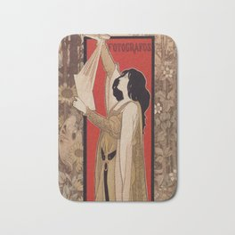 Spanish Barcelona art nouveau photographer banner ad Bath Mat