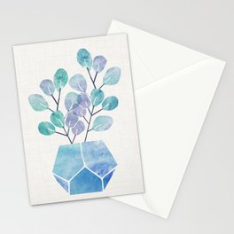 Blue Bonsai - Potted Plant Stationery Cards