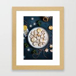 Santa's Christmas Cookies (Color) Framed Art Print