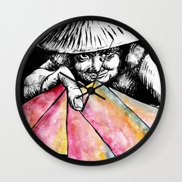 The Lottery Ticket Seller Wall Clock