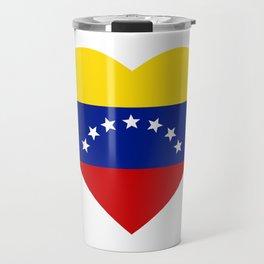 Venezuelan heart - Corazon Venezolano Travel Mug