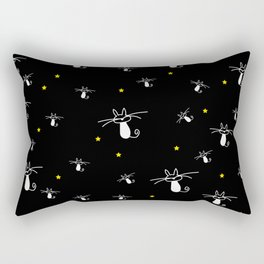 Cats in the starry night Rectangular Pillow