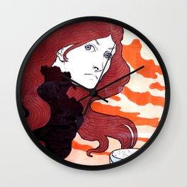 La Vitrioleuse - The Acid Thrower by Eugène Grasset - Art Nouveau Vintage Retro Poster Wall Clock