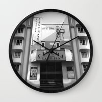 cinema Wall Clocks featuring Cinema by Chris Meiklejohn