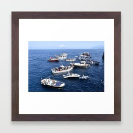Blue Grotto at Sea Framed Art Print