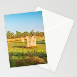 Magnetic termite Mounds in Litchfield National Park Stationery Cards