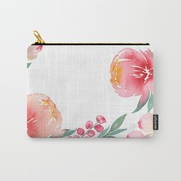 Floral Border Carry-All Pouch