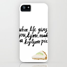 Key Lyme Pie iPhone Case
