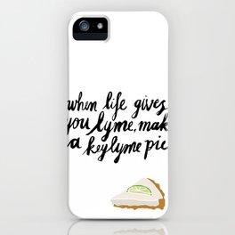 Key Lyme Pie iPhone Case
