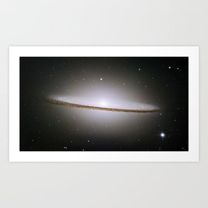 Sombrero Galaxy Hubble Telescope Image Art Print By Fineearthprints