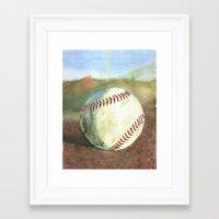baseball Framed Art Prints featuring Baseball by 6-4-3