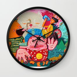 tanned demons Wall Clock