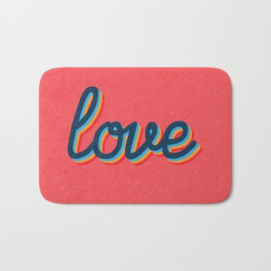 Love - pink version Bath Mat