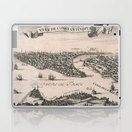 Vintage Pictorial Map of Constantinople (1696) Laptop & iPad Skin