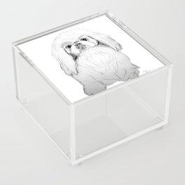 Cartoon Pekingese Dog Acrylic Box