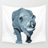 rhino Wall Tapestries featuring RHINO by Ernie Young