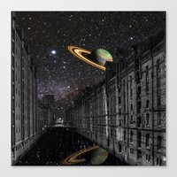 saturn Canvas Prints featuring Saturn by Cs025