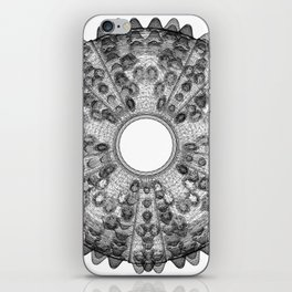 GEOMETRIC NATURE: SEA URCHIN w/b iPhone Skin