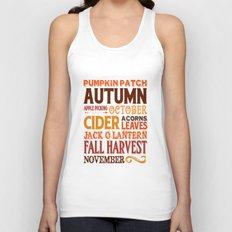 Subway Style Autumn Words Unisex Tank Top