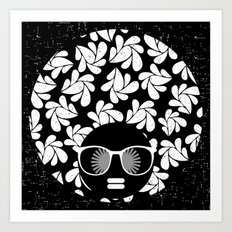 Afro Diva : Black & White Art Print