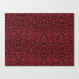 Red leopard Canvas Print