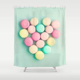 Macarons, macaroons heart, pop art Shower Curtain