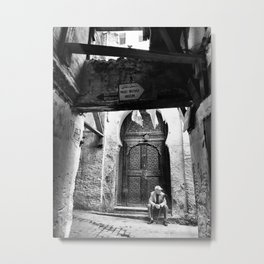Lonely narrow streets of Fez, Morocco October 2017 Metal Print